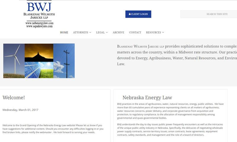 Nebraska Energy Law | Lincoln, NE | 2017