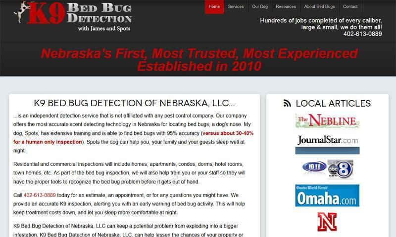 K9 Bed Bug Detection | Lincoln, NE | 2010